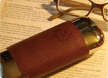 Leather glasses case-OROBIANCO