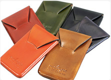 Tanning leather seamless business card case-Milagro