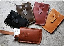 Leather business card case-ROBERU