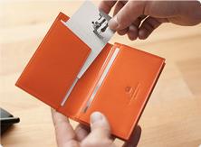 Business card case Through-munekawa