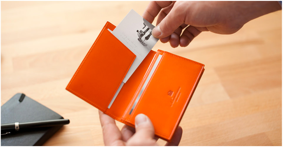 Japanese leather business card cases for men - Free Spirits