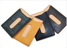 Bridle leather pass case-RAFTWORK PRODUCTS