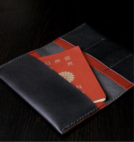 Passport case urushi black-KAKURA