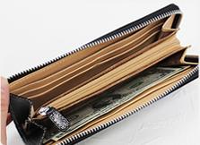 Zipper accordion wallet-BRITISH GREEN